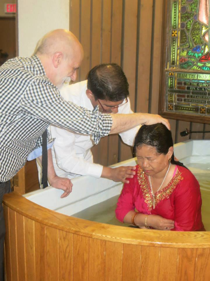 Knox adult baptism by immersion