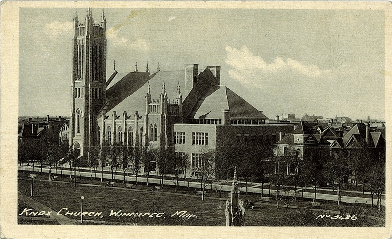 Post card of Knox in  1930s; University of Alberta Library Used with permission.