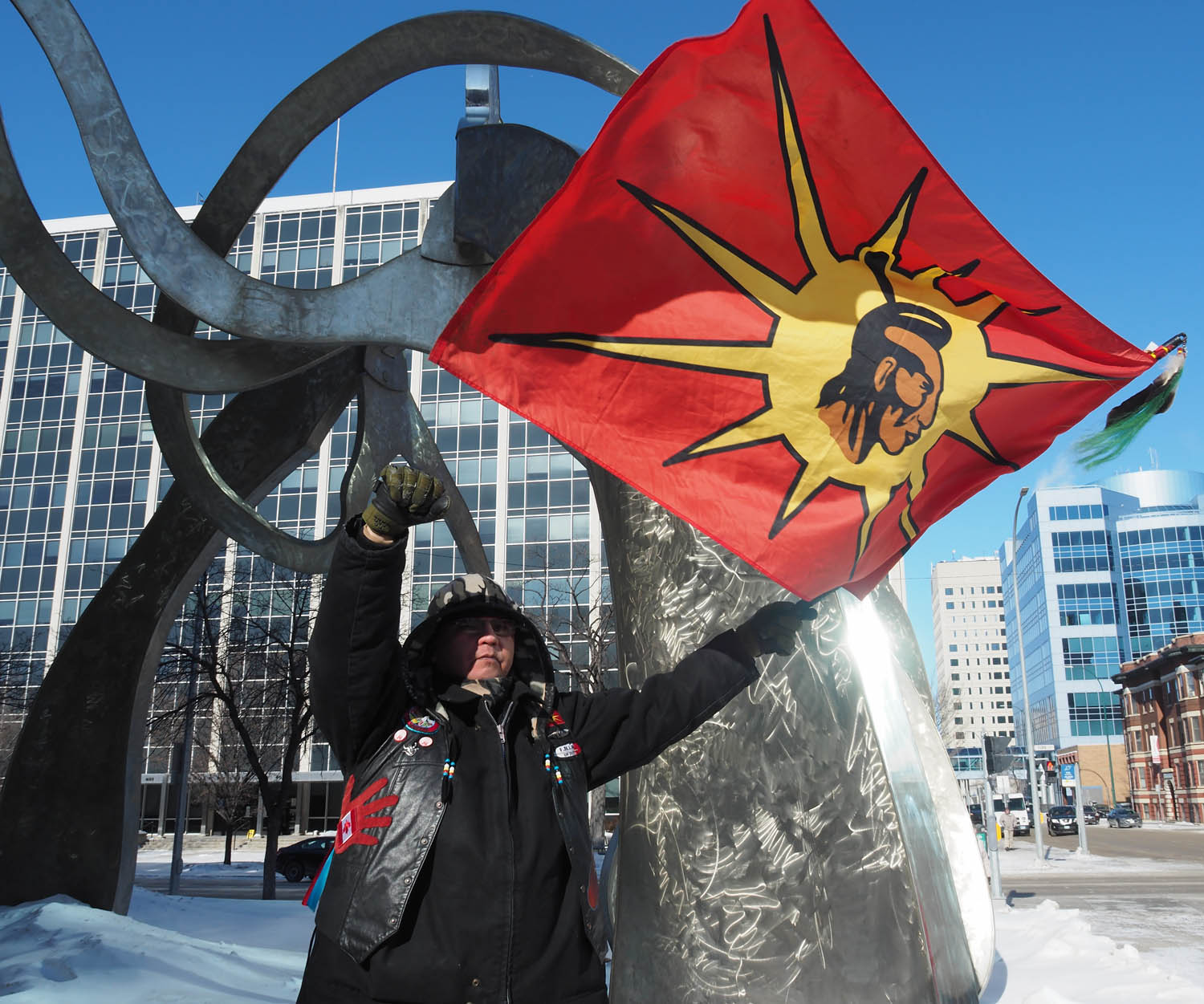 Protestor in march for indigenous rights